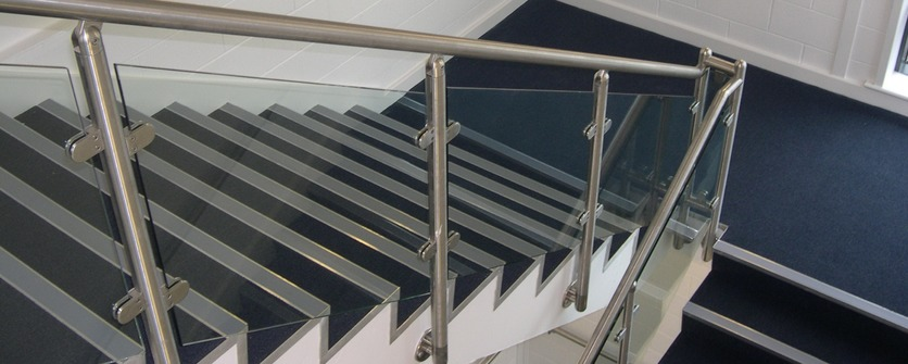 Stainless steel & glass balustrade