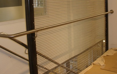 Stainless steel handrail in Warwickshire. Manufactured by Eagledale.